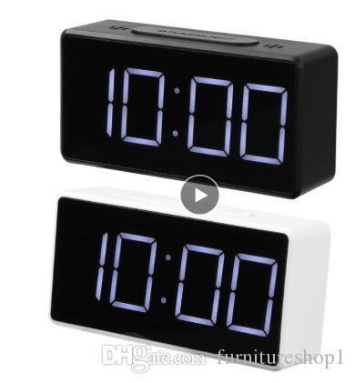 LED Digital Alarm Clock with USB Port Snooze Table Clock Electronic Desk Alarm Clock USB Timer Calendar Thermometer