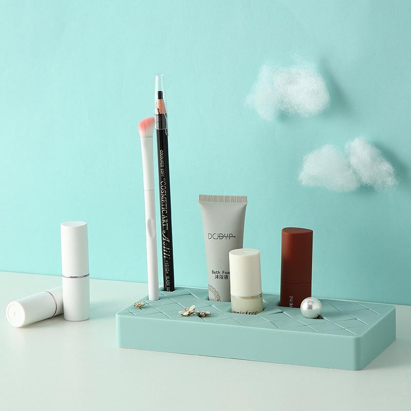 Kosmetik-Box Kleine Makeup Lippenstift Speicher Rack 2020 Mode Make-up Organizer Ohrringe Schmuck Speicher Augenbrauenstift