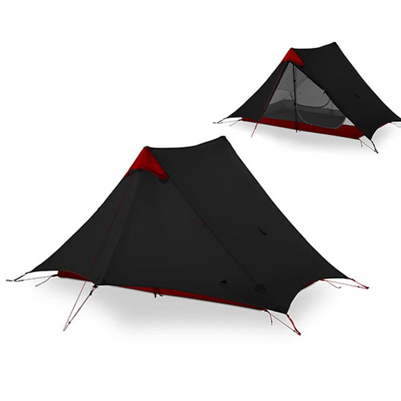 3F UL GEAR LanShan 2 Person Oudoor Ultralight Camping Tent 3 Season Professional 15D Silnylon Rodless Tent