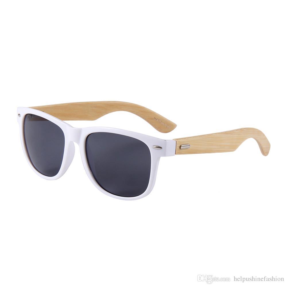 20 пар за лот стильные солнцезащитные очки 2019 года из бамбука новые модные популярные солнцезащитные очки из бамбука
