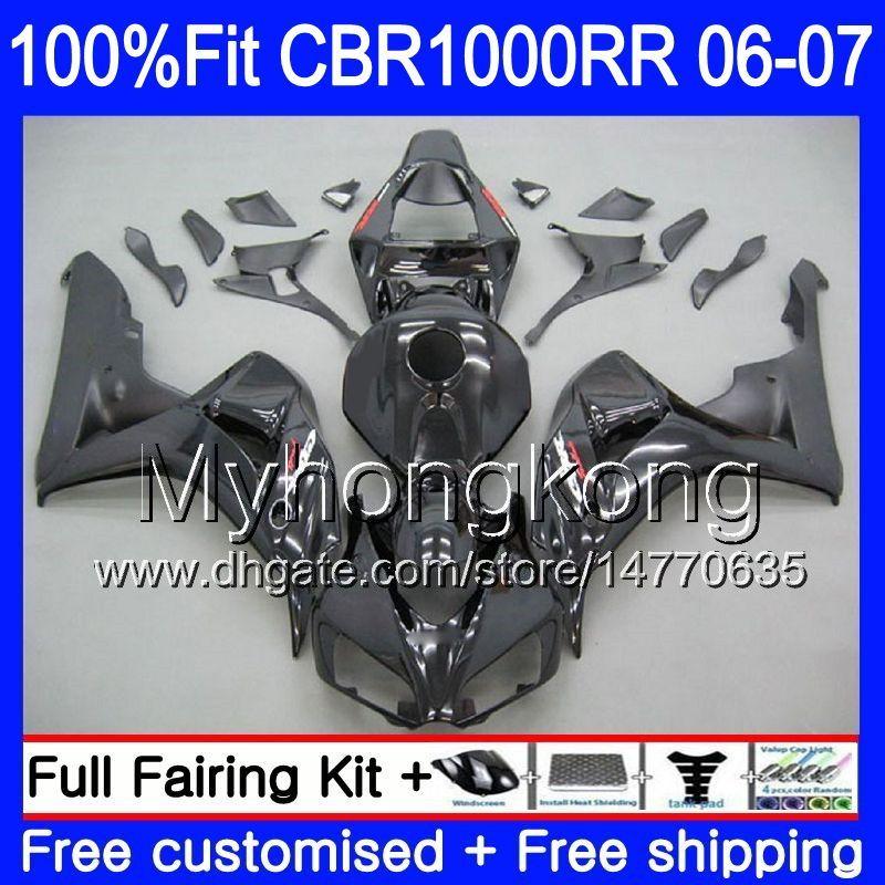 Corpo iniezione + serbatoio per Honda CBR 1000 RR CBR 1000RR 06-07 276HM.0 CBR1000RR 06 07 CBR1000 RR 2006 2007 Carens 2007 Kit fresco fabbrica nera