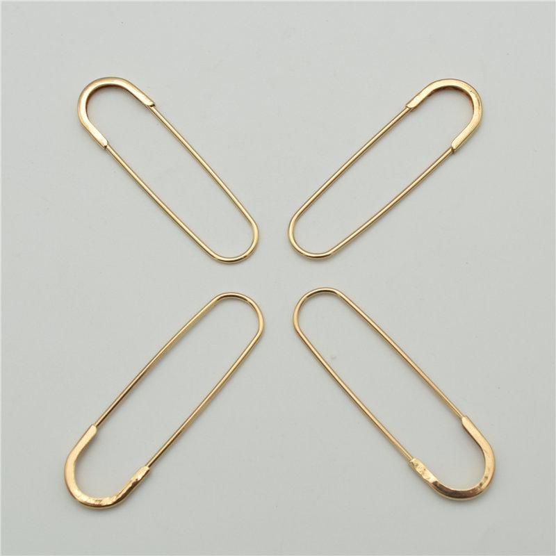 10 قطع 6.5 سنتيمتر 7.0 سنتيمتر كبير لون الذهب الحديد السلامة بروش دبابيس تنورة محبوك diy مجوهرات الحقائق