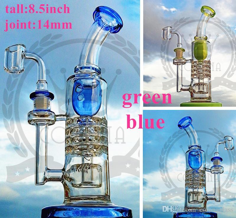 cam kase petrol kulesi gör dabber cam gaz verici su borusu ile Yeni mor renk su borusu üç petek cam bongs