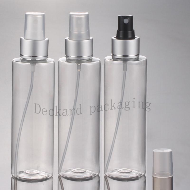 50X150ml очистить Пластиковые Духи Химической бутылку с насосом опрыскивателем, 150cc спрей пластикового DIY бутылки для косметики и личной гигиены