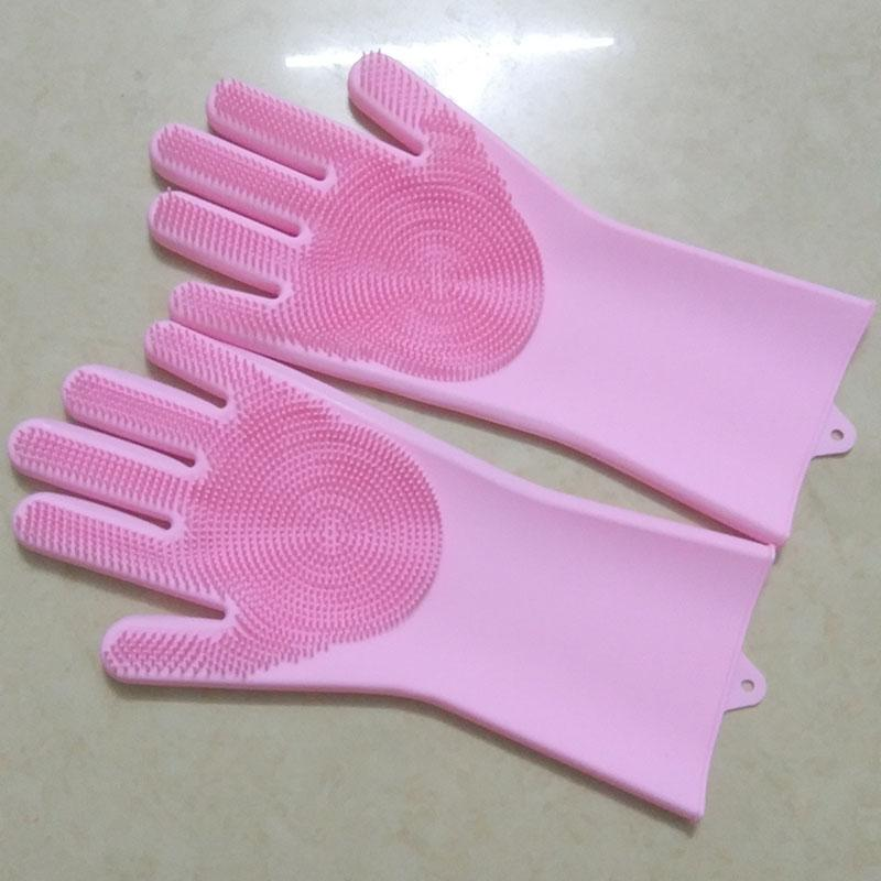 Moda-kaliteli 10 adet / 5 pair Yüksek sıcaklık fırın silikon eldiven bulaşık makinesi Araba fırça silika jel eldiven Ev Işi Eldiven 10 adet / 5 pair