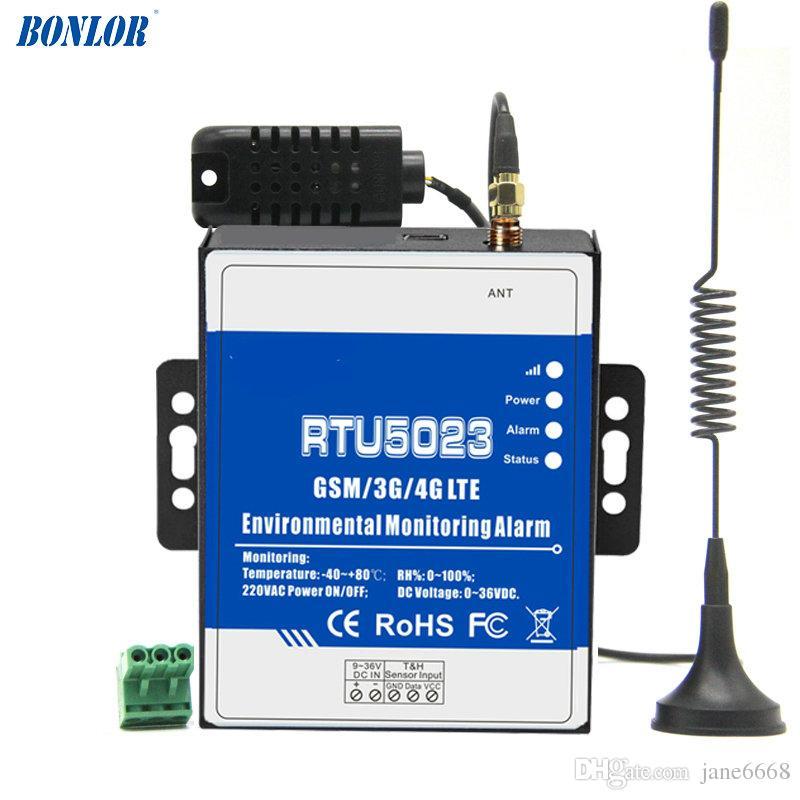 RTU5023 GSM الرطوبة درجة الحرارة البيئة حالة إنذار الطاقة SMS تنبيه مراقبة التحكم عن بعد DC تقرير الطاقة الموقت APP