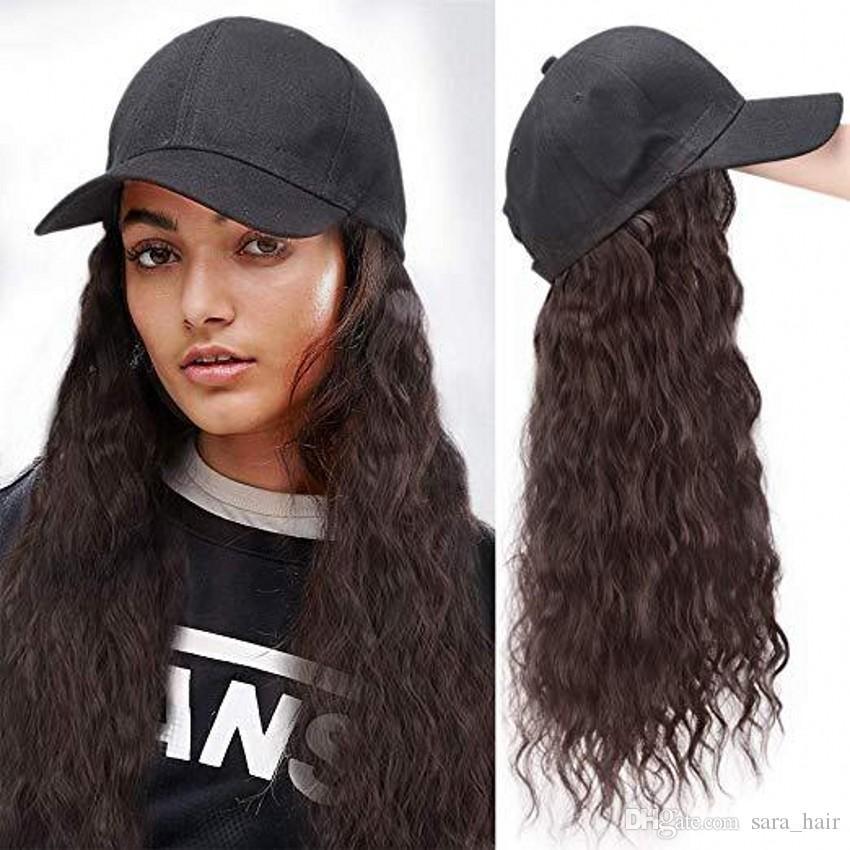 사라 핫! 여자 레이디 변태 곱슬 머리 확장 캡 통합 매력적인 미스 칙 헤어 조각 가발 60 센치 메터, 24 인치