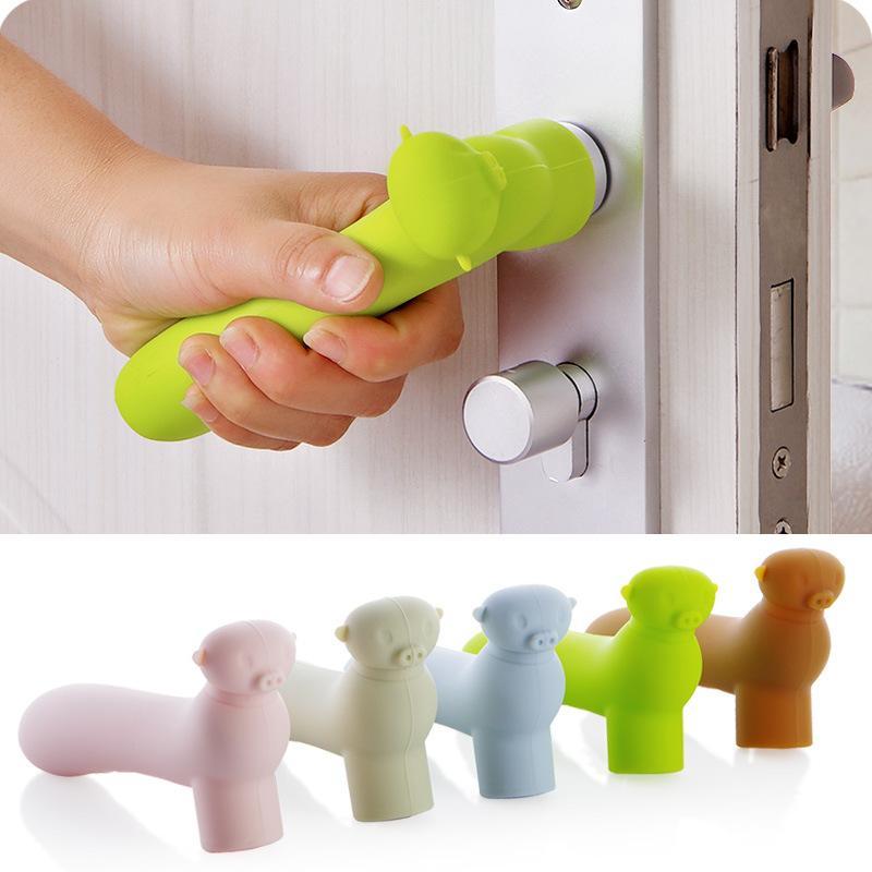 Handle quarto da luva de silicone Porta Baby Cartoon Bater Protection Suite Porta Luvas Pull Handle Protector Início Acessórios