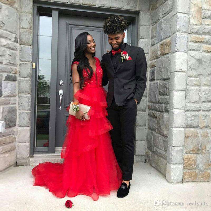 Abiti uomo nero per abiti da sposa Tailored Man Blazer con visiera Risvolto Sposo Smoking da sposa Prom Party 2Pezzo Costume Homme Terno Masculino