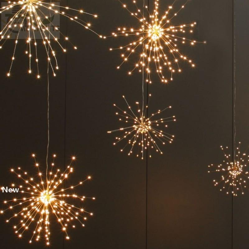 Fireworks Solar String Lights 200 LED Solar Lamp 8 Mode LED Lights Remote Control Light for Party Bar Christmas Decoration GGA2519
