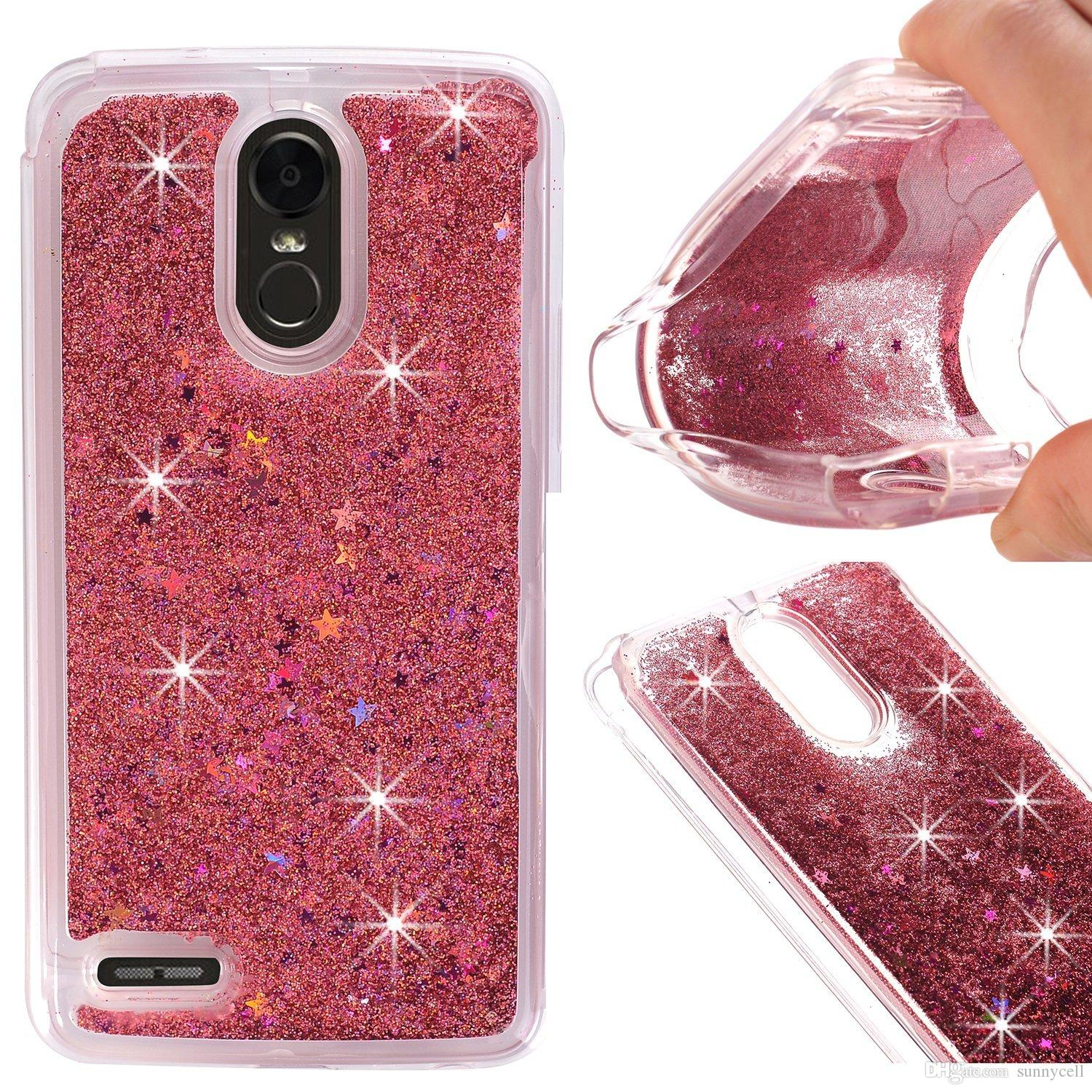 Per LG V30 K200 X POWER2 K10 2017 STYLO 3 PLUS STYLO 2 PLUS Glitter Liquid Water Bling Quicksand Cassa del telefono