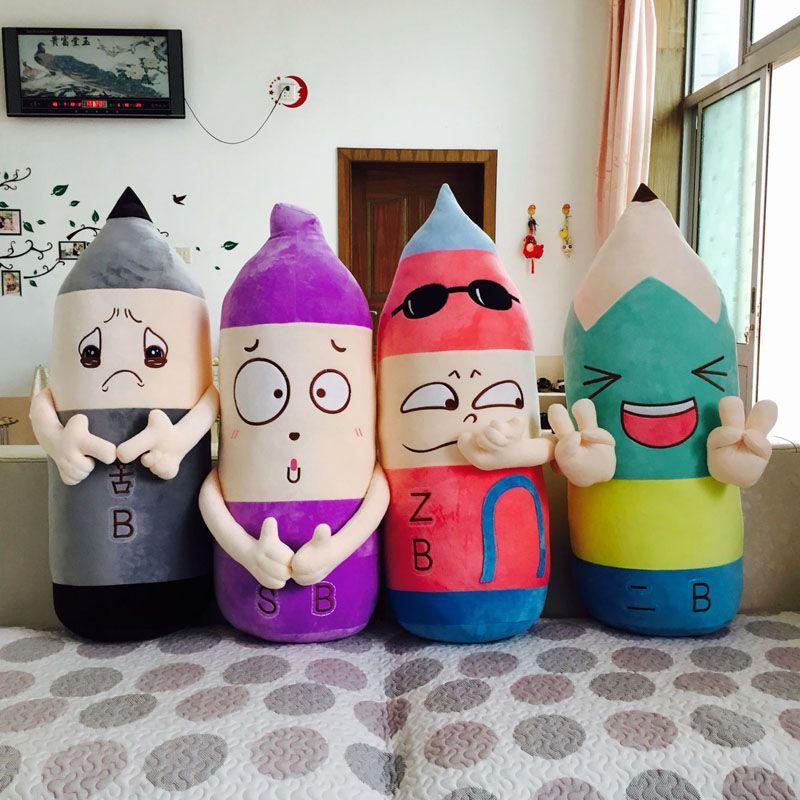 Nuovo creativo di personalità 2B Matita grande cuscino peluche sveglie molti doni espressioni matita bambola giocattolo per i bambini Bambini