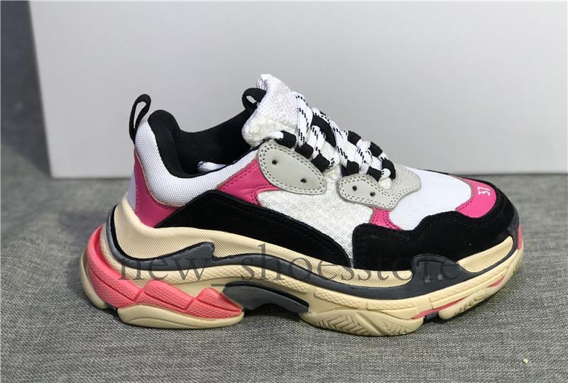 2018 Triple lusso casuali scarpe retrò papà per gli uomini delle donne 2019 Paris Fashion scarpe da ginnastica di marca Vintage Platform Shoes Sneakers Chaussures