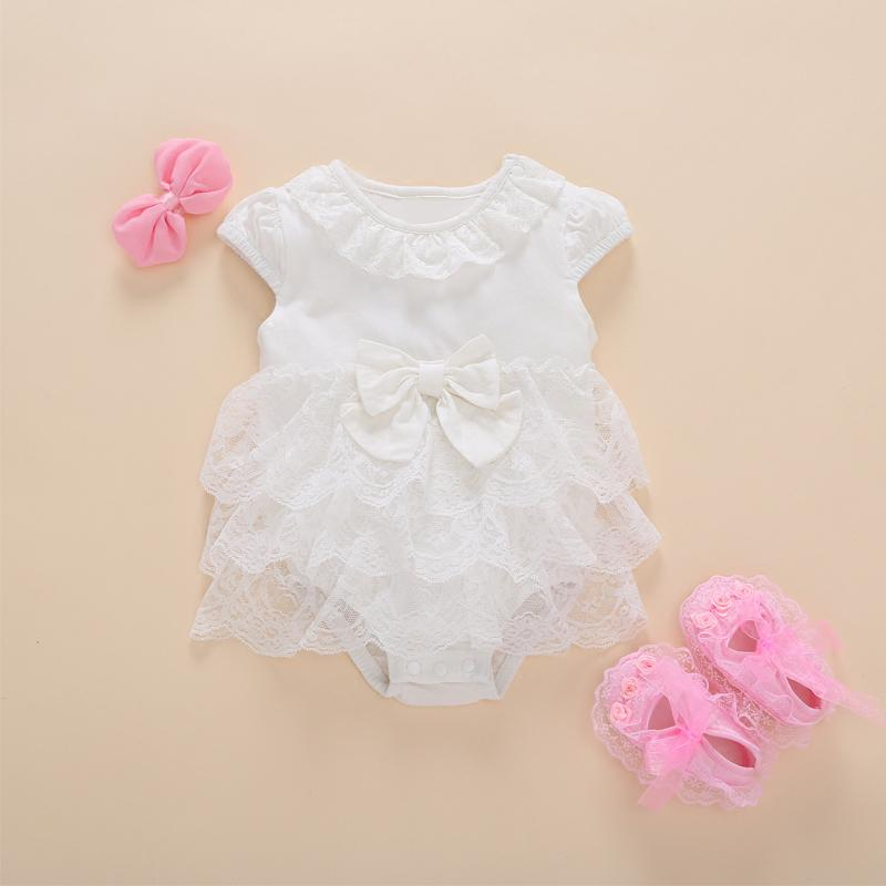 100/% Cotton Jersey Newborn Baby Anti Scratch Mittens Christening Cotton Lace Color White