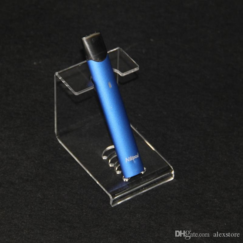 pantalla de acrílico transparente del soporte del sostenedor estante estante espectáculo vaporizador base para Ecig vaporizador plana kit de la pluma vaporizador vainas de cartucho de la batería del tanque nuevo