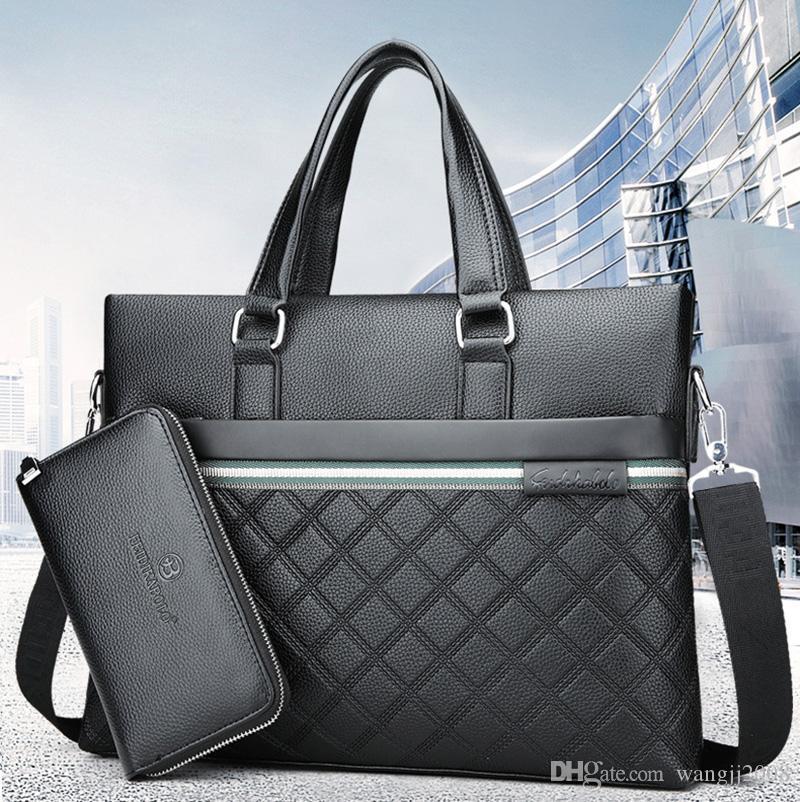 Мужчины Сумка Бизнес Компьютер сумки Портативный молния плеча 15 дюймовый ноутбук сумка черного Водонепроницаемая офиса Портативная сумка горячей