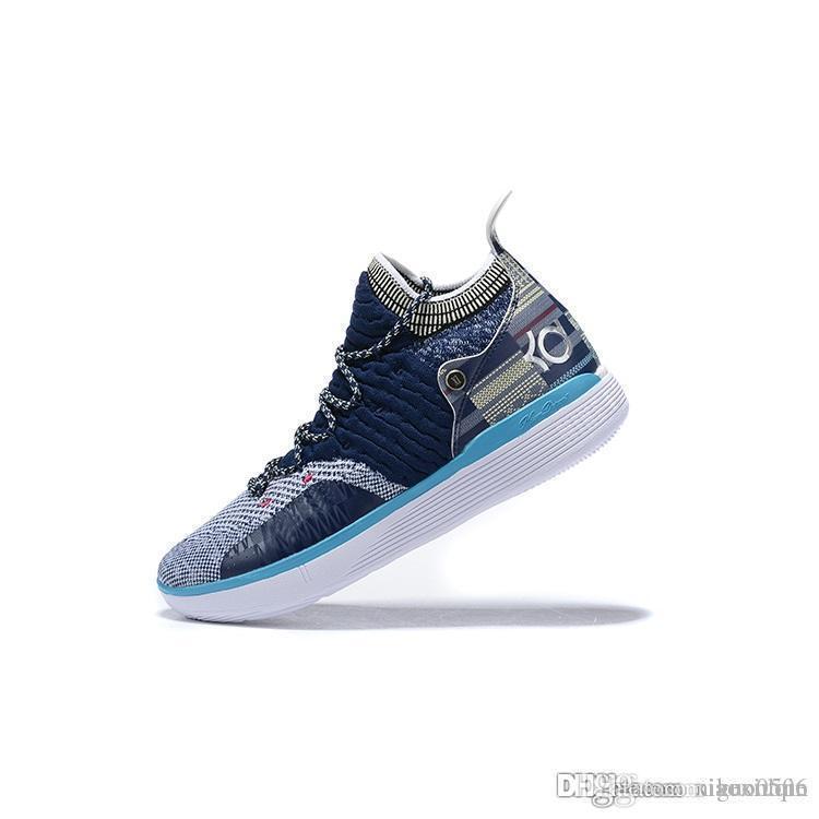 دينار رخيصة 11 أحذية الرجال لكرة السلة الزهور عيد الفصح عيد الميلاد الأصفر الأزرق BHM العمة لؤلؤة الوردي الاطفال كيفن دورانت أحذية رياضية الحادي عشر الأحذية مع مربع 7 12