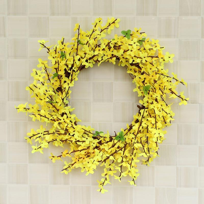 Pastel de bodas de la planta verde de la planta verde de la guirnalda artificial de la simulación de la guirnalda del Ministerio del Interior de la decoración DIY Caja de regalo de la decoración de Coronas
