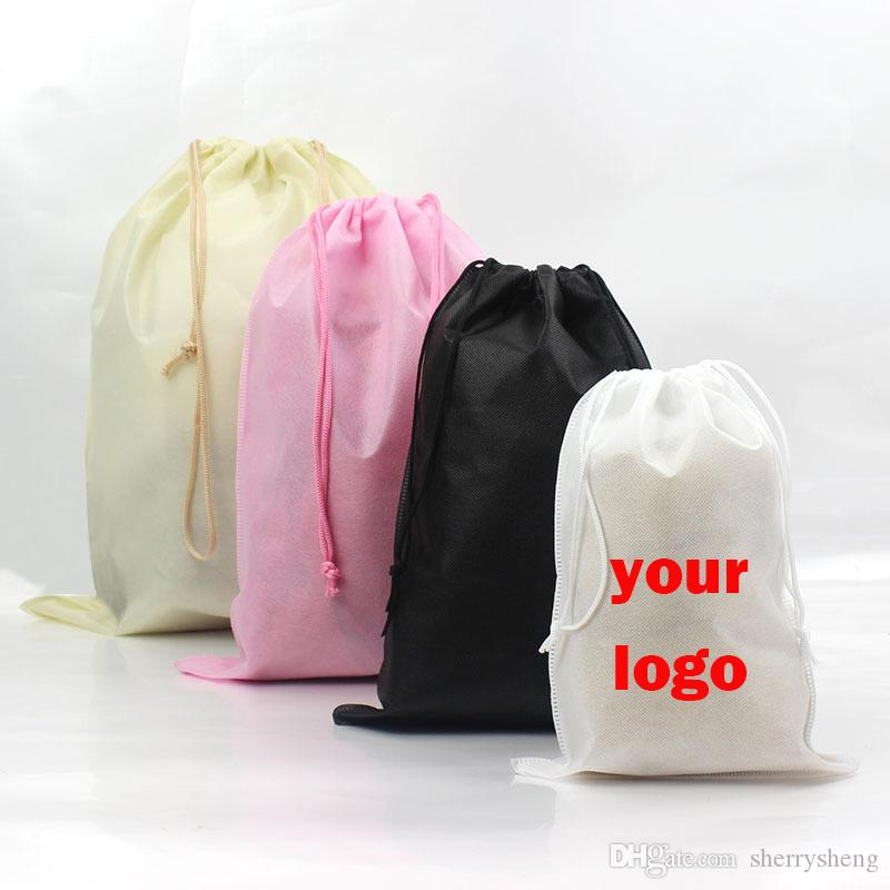 6 الأحجام غير المنسوجة كيس الرباط حمل رسم سلسلة حقيبة إعادة تدوير أكياس تخزين حقيبة هدية يقبل الشعار مخصصة