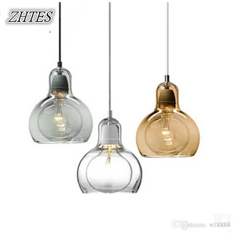 Glass Pendant Light Restaurant Modern Minimalist Bar Lamp Kitchen Glass Lighting Fixtures