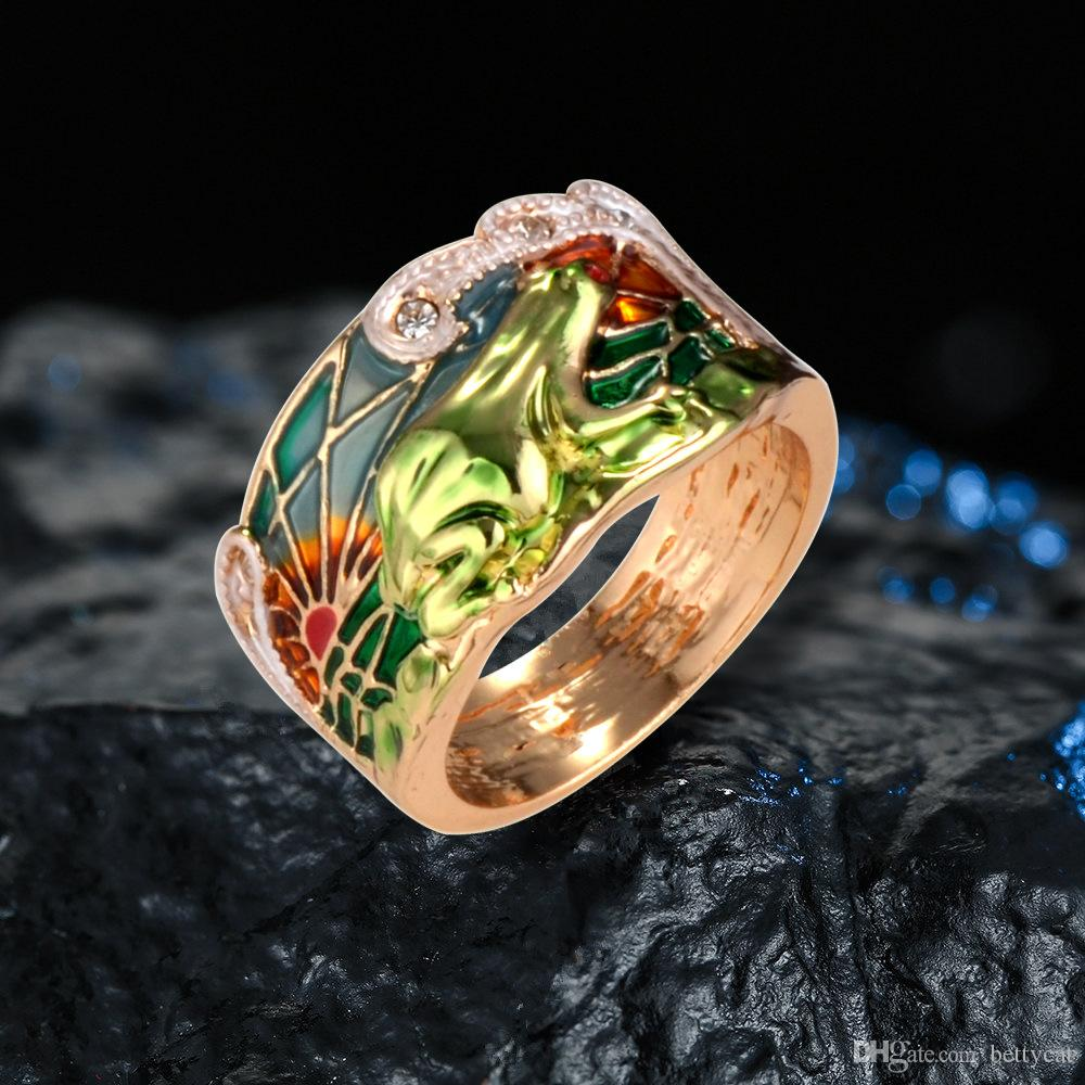 New arrival women fashion jewelry gold frog ring Love Valentine's day Christmas mother festival gift
