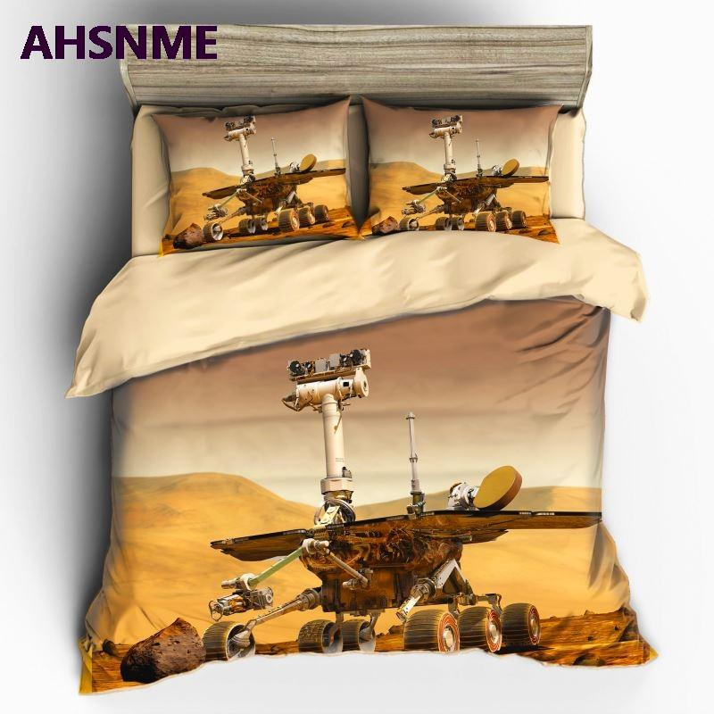 AHSNME High Definition Fotoprint 3D-Effekt Mars Rover Abdeckung Set Mars Abholzungsplan Bettwäsche customize Super King-Bett