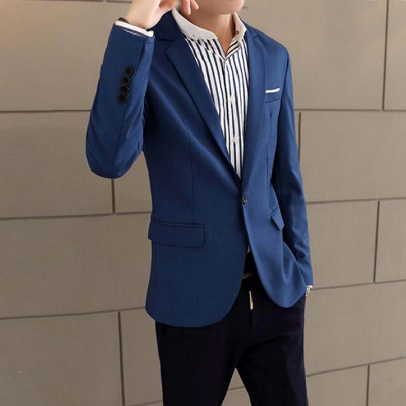 Shujin Men Slim Fit social Blazer Primavera Outono Moda Sólidos Mens vestido de casamento Brasão Casual Tamanho Negócios Masculino paletó