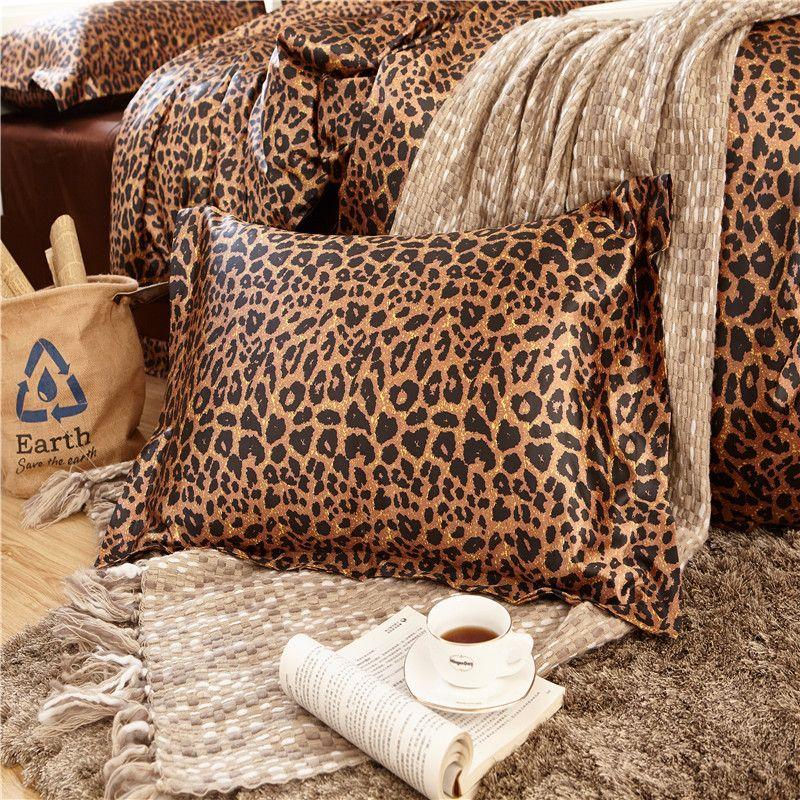 Kühle Blumenbett Kissenbezüge Leopard Pc04 48 * 74 cm Kissenbezug Kissen Hause Schlafzimmer Dekorative Bettwäsche Zurück Hotel Kissenbezüge Y19062103