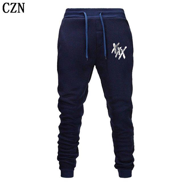 Nueva rapero Xxxtentacion Pantalones Verano Otoño Pantalones Casual Pantalones rectos Sweatpants Harem de dibujos animados para hombre del basculador EL-5