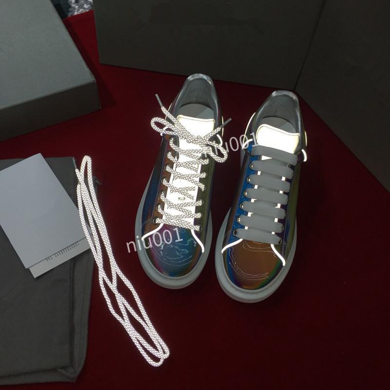 Novo Estilo Designer Mulher Sapatos homem ocasional da sapatilha Cores misturadas Ouro Prata Nude retalhos de malha instrutor Shoes Drop Shipping Com Bo xsd190610