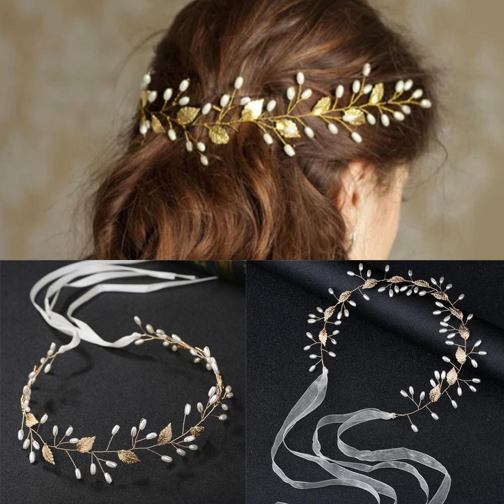 Joyería de la boda de novia de flores de moda 1PC / 1Ponga peine del pelo del tocado de fin de curso de la horquilla de pelo accesorios horquilla hojas del oro