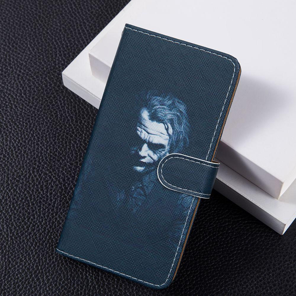 3D النقش المهرج جلد الوجه على غرار كتاب تغطية لTCL PLEX حالة بطاقة حقيبة الهاتف الحال بالنسبة لتى سى ال التنوير القائل العاشر 6.53 منقوشة شل
