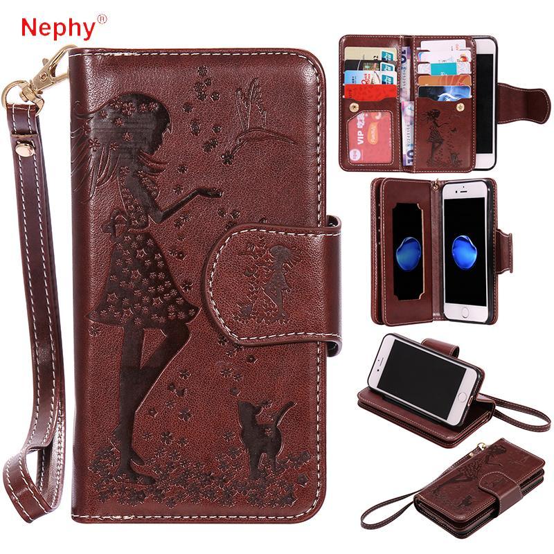 оптовый роскошный кожаный бумажник флип телефон чехол для iphone 6 с 6 с 7 8 плюс 6 плюс 6 плюс 7 плюс 8 плюс 5 с SE крышка макияжа зеркальный корпус