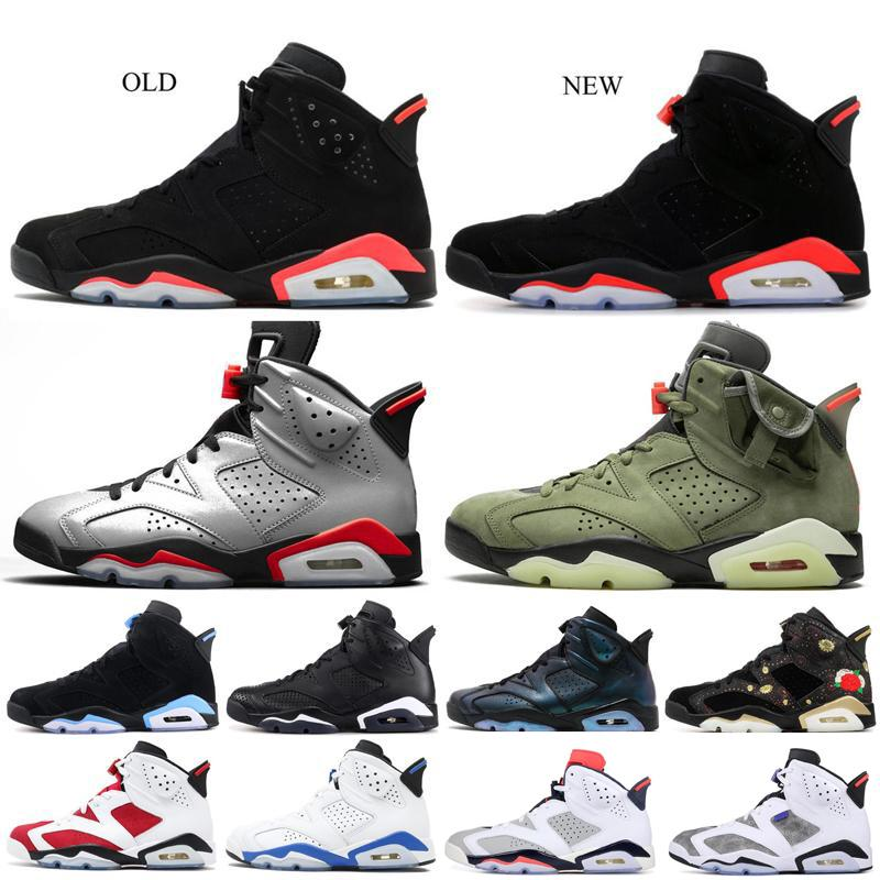 New Sport blue 6 6s black cat Basketball Shoes Bred Maroon Black Infrared Travis Scotts Reflective Bugs Bunny Mens Trainers Sneakers us7-13