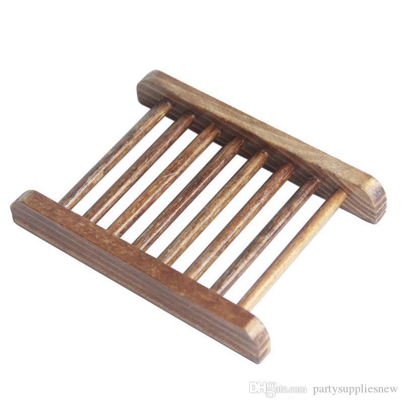 Couleur noir Savon bois naturel Plaque Plat Plateau Porte-Box Case Douche Savon Lave-vaisselle à la main