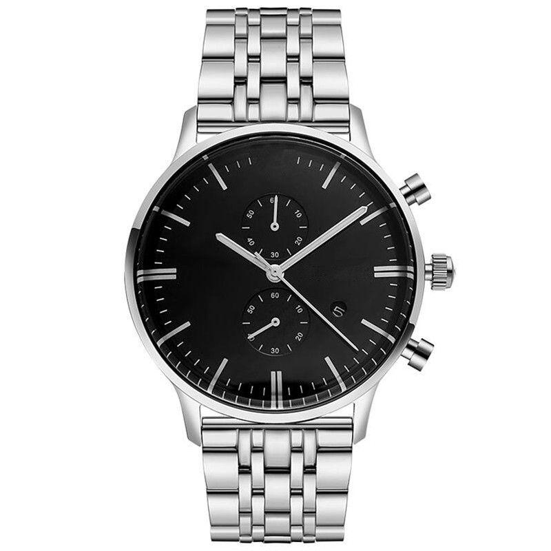 Envío de la gota AR0389 AR5855 AR5857 hombres de calidad superior relojes de cuarzo de acero inoxidable reloj de pulsera de moda venta caliente