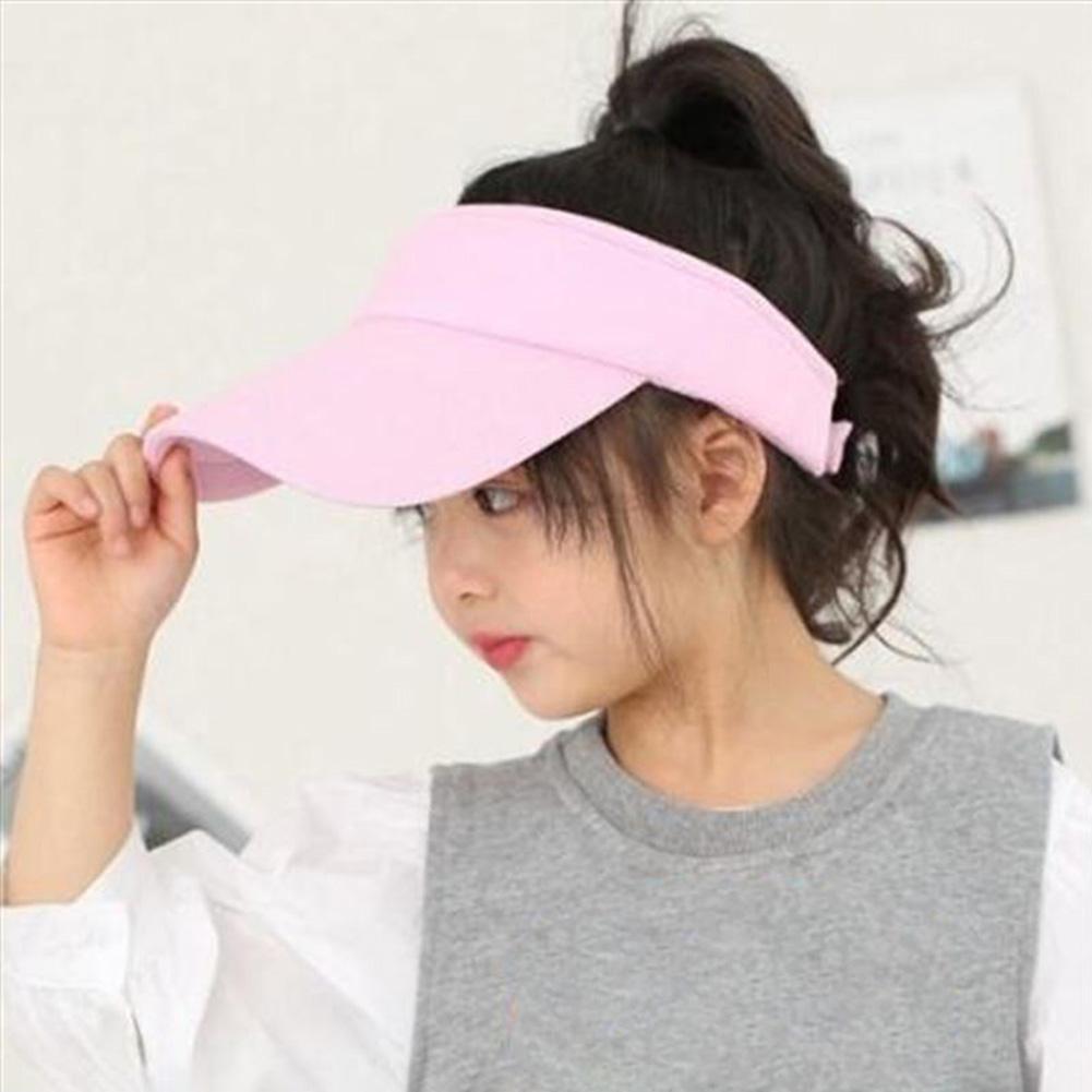 New Vintage Fashion Verão Anti-UV Cap Hat exterior Topless Praia das crianças das crianças respirável Sunhat