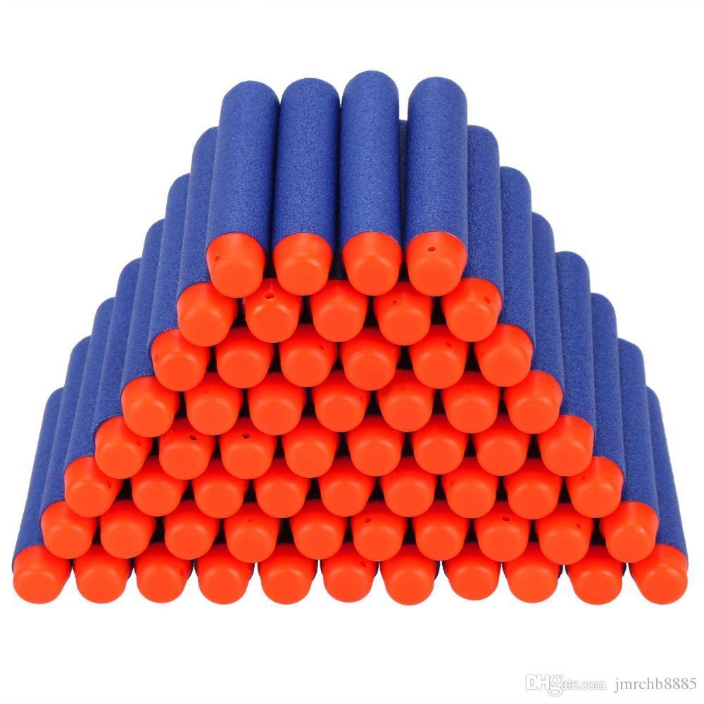 Горячая 7.2 см нерфа Н-Страйк элит серии синий Refill мягкая пена пуля Дартс игрушечный пистолет пули 100шт