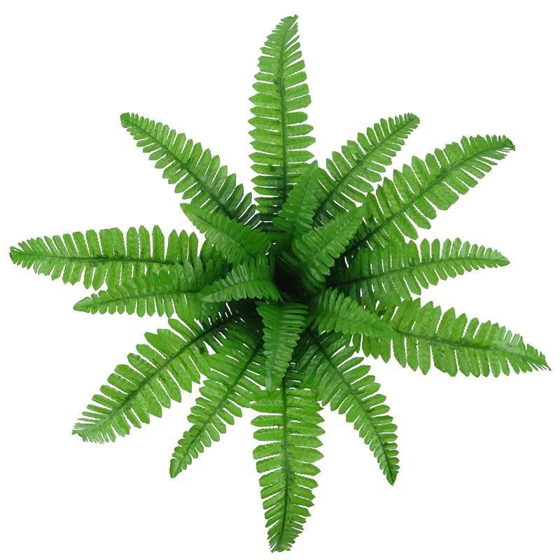 18 Kopf-Kunst Grün Kleine Perser Blätter Farn Gras Ast Plant Simulation Bonsai Kunststoff-Fälschungs-Blatt Hausgarten-Dekoration
