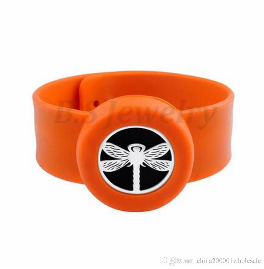 dragonfly Charm Bracelet Kid Jewelry Silicone Slap Bracelets Essential Oils Diffuser Wristband Anti-Mosquito Bracelets & Bangles For Kids