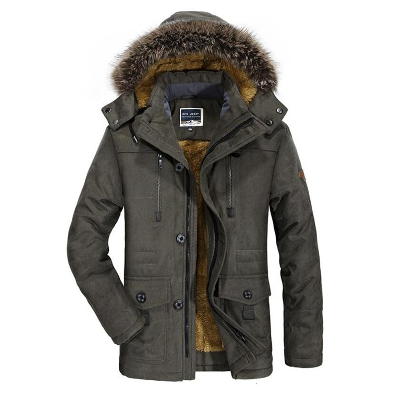 2019 Military Winter Jacket Men Casual Thicken Cotton Padded Parka Long Hooded Coat Warm Fleece With Fur Overcoat Plus Size 6XL SH190918
