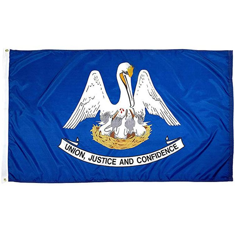 Louisiana State Flag 3x5FT 150x90cm stampa del poliestere coperta appeso all'aperto di vendita caldo di bandiera nazionale con ottone Occhiello Shippin