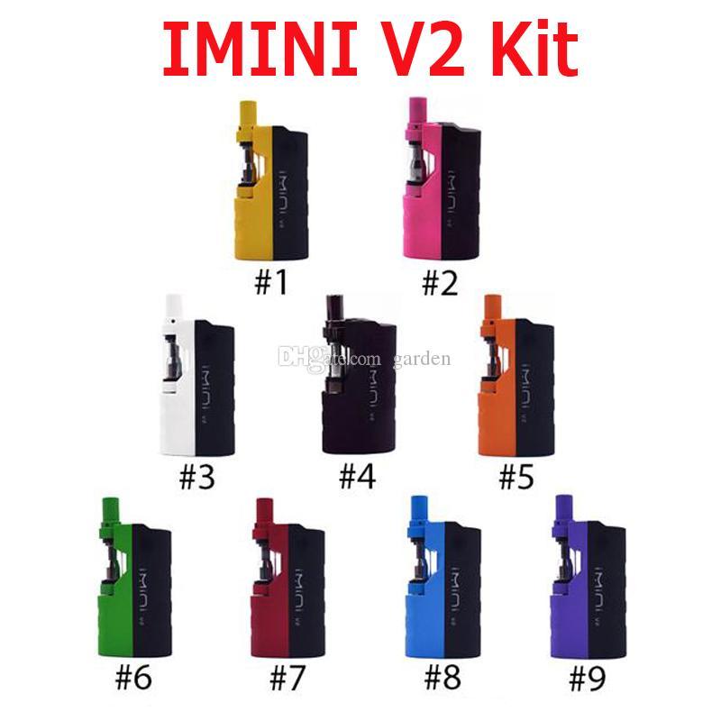 Original Imini V2 Kit 650mAh Preheat Battery Upgraded Box Mod 0.5ml 1.0ml Imini I1 Tank Cartridge Vaporizer for Thick Oil 100% Authentic