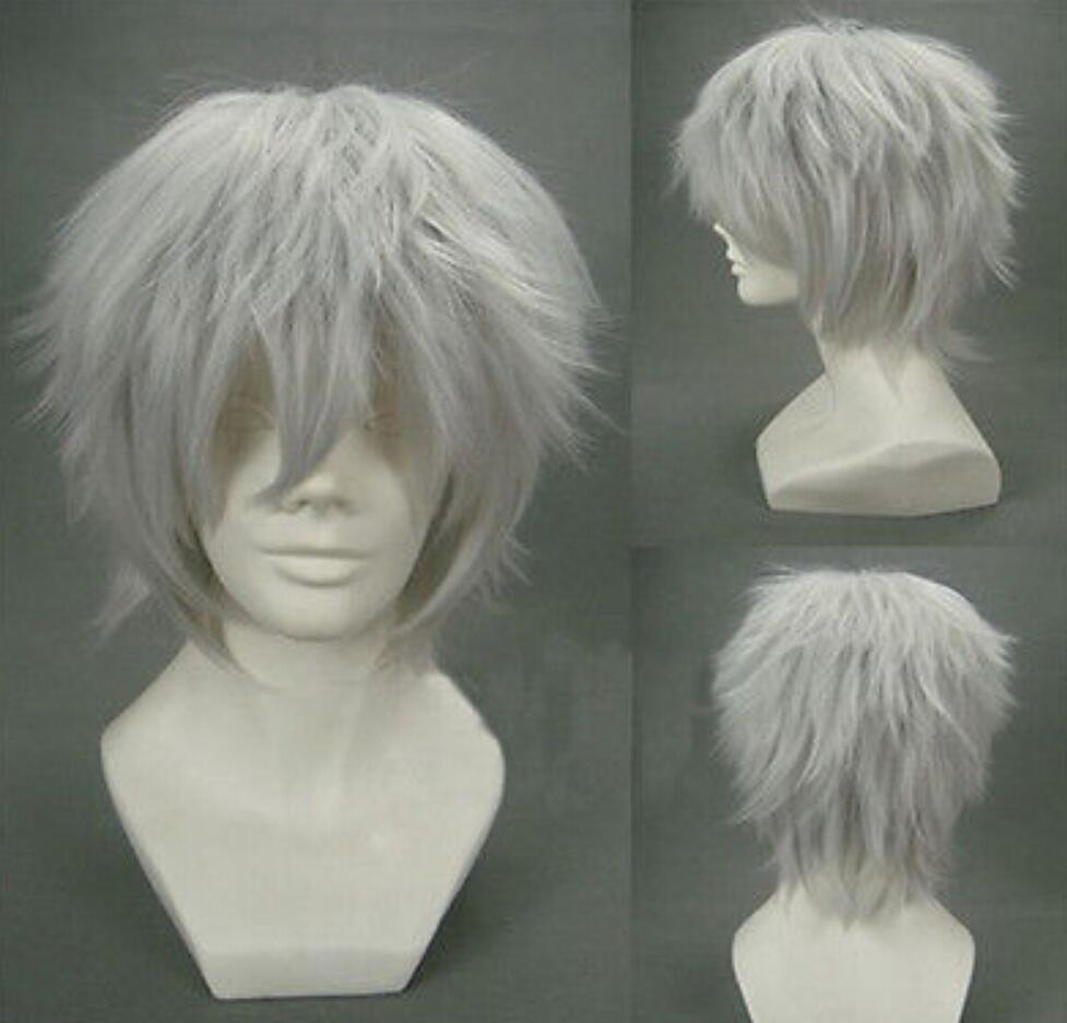Parrucca libera di trasporto libero caldo Tokyo Ghoul Kaneki Ken parrucca bianca breve del costume di Cosplay