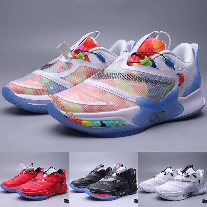 BB 2.0 Tie Dye Erkek Ayakkabı Yeni Tasarımcı Hayır Otomatik Shoelace Siyah Oreo Chicago 2K Gamer Özel Sneakers Boyut 40-46 Running Uyum