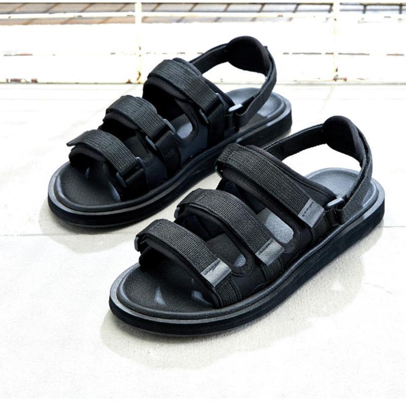 2020 Nouveau Chaussures Hommes Chaussures ouvertes devant Black Summer Sandal Chaussures Hommes Gladiator Sandalias Mujer, Grandes Tailles EUR38-45