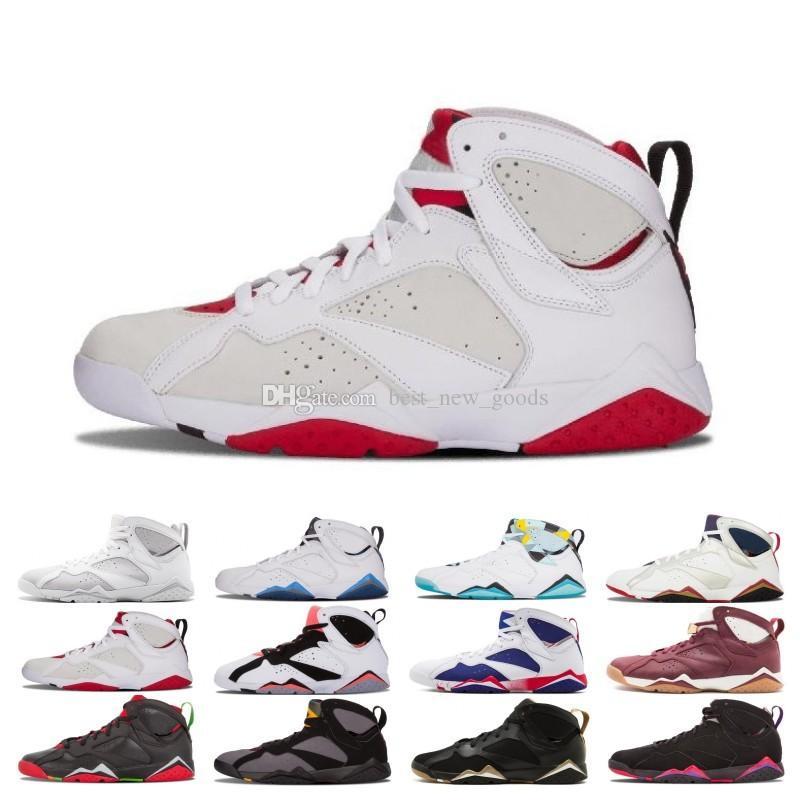 Uçuş Erkekler Sneaker Tinker Alternatif Olimpik Spor büyüklüğü 41-47 arasında Tasarımcı 2018 Erkek 7 Basketbol Ayakkabı 7'ler Fadeaway Saf Para Geçmişi