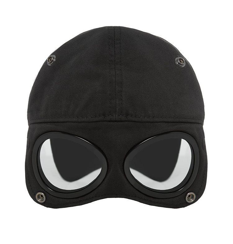 Fashion-Goggle Cap Goenies Designer Mens Mens Mulheres Berets Ao Ar Livre Esportes Chapéus Rua Dois Óculos Caps