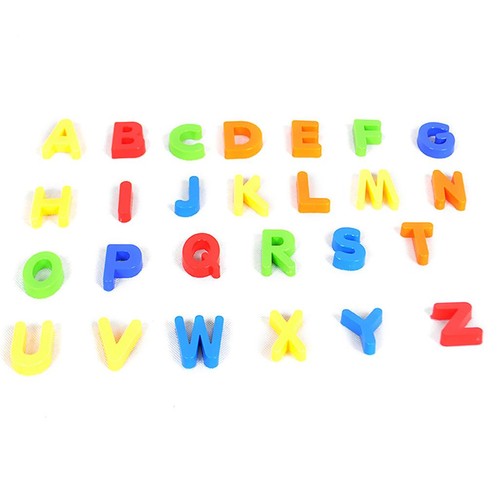 COLOURED LETTERS  PLASTIC FRIDGE MAGNETS approx 30 pieces  NEW