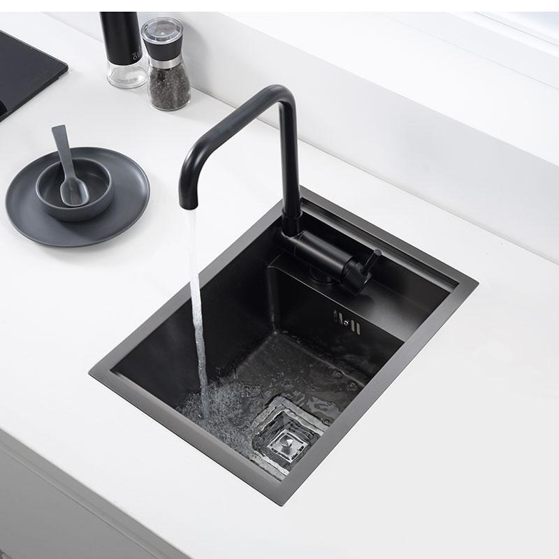 2021 Hidden Black Kitchen Sink Single Bowl Bar Small Size Stainless Steel Balcony Sink Concealed Black Kitchen Sink Bar From Pet Friends 57 66 Dhgate Com